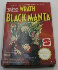 Wrath Of The Black Manta Nintento NES Boxed PAL - BOX ONLY - NO CARTRIDGE