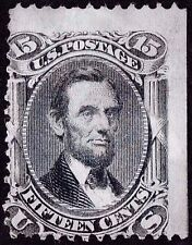 "US Sc# 77 *UNUSED H* { 15c BLACK LINCOLN } ""SCARCE FROM 1866 SERIES CV $1,750.00"
