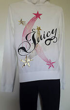 JUICY COUTURE SWEAT ZIPPE GILET TAILLE L (FR42 / EU40)  EN COTON ÉPONGE BLANC