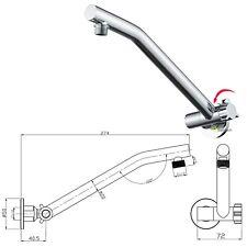 Bathroom Brass Swivel Adjustable Shower Wall Arm Extension For Rainfall Head