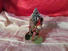 Chenille Christmas Elf with Bottle Brush Christmas Tree & Log Mercury Ornaments