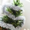 Shiny Beuty 2Meters (6.5Ft)  Chunky Tinsel Chrismas Tree Decoration Xmas silver