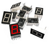 """5pc - 7 Segment Digital Tube Display Red LED 10-Pin 1-Bit 0.56"""" for Android USA!"""