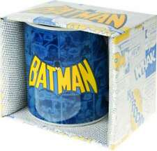 DC COMICS BATMAN CLASSIC LOGO COMIC STRIP TEA COFFEE MUG CUP NEW AND GIFT BOXED