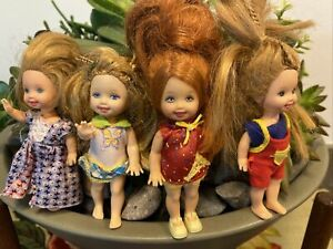 Mattel Barbie's sister Kelly Doll LOT of 4 Dolls  Vintage Barbie Kid