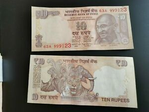 BILLETE DE India india 10 rupias 2016  UNC p 102