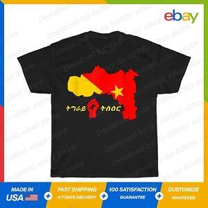 Tigray Map Flag Ethiopia Gift T-Shirt Black S-5XL