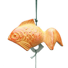 Japanese FURIN Wind Chimes KINGYO Small Gold-fish Cast Iron/Made in Japan
