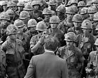 PRESIDENT RICHARD NIXON VISITS WITH TROOPS IN VIETNAM 1969 - 8X10 PHOTO (SP101)