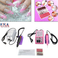 Electric Nail File Art Drill File Acrylic Manicure Pedicure Portable Machine Kit