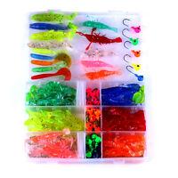 5PCS Soft Jig Head Fishing Lures Soft Baits Silicone Jigging Wobbler 0.92oz//26g