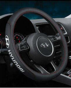 """15"""" Car Steering Wheel Cover Genuine Leather For All Car New7"""