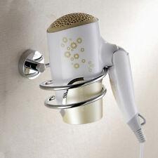 Stainless Steel Hair Dryers Holder Wall Mounted Hanger Rack Chrome Bath Storage