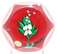Fantastic SAINT LOUIS Lily of the Valley FLOWER Studio Art Glass PAPERWEIGHT