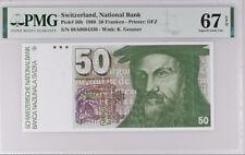 Switzerland 50 Franken 1988 P 56 h 1Superb Gem UNC PMG 67 EPQ