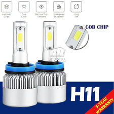 2x 200W 20000LM COB LED HEADLIGHT BULBS KIT H11 H8 H9 6500K WHITE  LOW BEAM