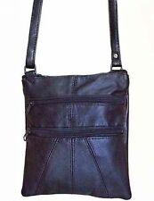 Fabretti Black Patch Leather Shoulder Bag Handbag Ladies Womens Girls