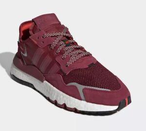 Adidas Nite Jogger 3M Boost Ultra Sneakers Burgundy Mens 7.5 New Box Fast Ship