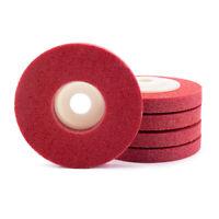 5Pcs Red Nylon Fiber Polishing Grinding Wheel For Metal Polishing Rotary Tools