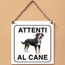 Bovaro dell'Entlebuch 2 Attenti al cane Targa piastrella cartello ceramic tile