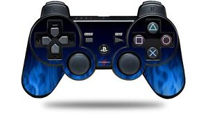 Skin for PS3 Controller Fire Blue CONTROLLER NOT INCLUDED