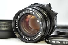 *Mint in Hood,Filter* Leica SUMMICRON M 50mm f2 E39 BLACK Germany M3 M6 #1743