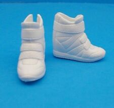 2017 Barbie Shoes Made 2 Move & CURVY & TALL Doll White Sporty High Top Sneakers