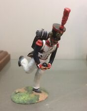 NAPOLEONIC WARS, FRENCH ARTILLERY GUNNER WITH CANNON BALL   54MM PAINTED METAL