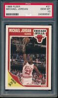 PSA 10 MICHAEL JORDAN 1989-90 89-90 Fleer #21 Chicago Bulls HOF RARE GEM MINT