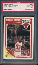 PSA 10 MICHAEL JORDAN 1989-90 89-90 Fleer #21 Chicago Bulls HOF RARE GEM MINT