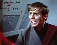 DAVID FRANKHAM SIGNED 8x10 PHOTO DR. LARRY MARVICK STAR TREK TOS BECKETT BAS