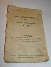 1928 Gebrauchsanweisung Singer KL.66 nahmaschine NOTICE MACHINE a COUDRE manual