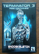 """Terminator 3 Rise of the Machines T-X ENDOSKELETON 7"""" Chrome Plated Mini-Bust"""