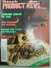 Motorcycle Product News, Dec 1986, CPSC Weighing ATV Decision,   Blue box 2