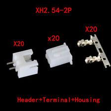 40* Good XH2.54 Connector Kits 2.54mm Pin Header & 20* 2P Terminal & 20* Housing