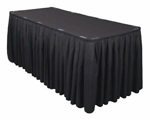 2 Polyester Table Skirts 21ft Banquet Round Table Skirting 3 Colors Made USA