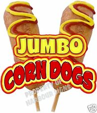 """Corn Dogs Jumbo Decal 24"""" Concession Food Truck Trailer Vinyl Sticker Sign"""
