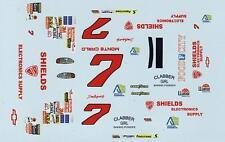 #7 Dale Earnhardt jr.  Shields Electronics 97 Chevy 1/64th HO Slot Car Decals