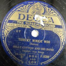 78rpm BILLY COTTON tiddley winkie woo / doo dee doo, DECCA F9288