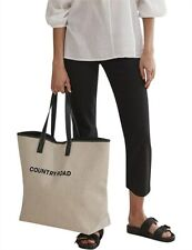 NWT Country Road Heritage Tote - Beige - Cotton Shopping Oversized Beach Bag