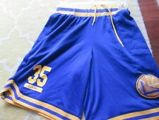 kevin durant golden state warriors S blue yellow shorts nba basketball mens