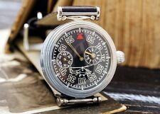 Regulator Black Molnija Molniya Molnia USSR Russian Soviet Men's Watch new strap