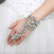 Hand Bracelet with Ring Chain Wedding jewelry Wedding Bridal Dress jewelry Gift