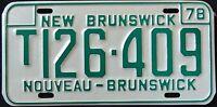 """CANADA """" NEW BRUNSWICK NOUVEAU """" 1978 MINT Vintage Classic License Plate"""
