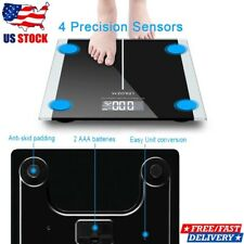 400lb Digital Bathroom Fitness Body Weight Scale LCD Personal Scale W/ Battery