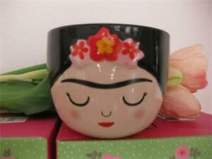 FAB FRIDA KAHLO MINI SMALL FACE FLOWER PLANT POT PLANTER CUTE COLLECTABLE