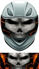 Skull flame fire helmet visor wrap tint vinyl graphic decal
