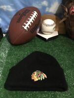 Chicago Blackhawks winter hat Cap beanie black H27