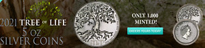 2021 - Niue Tree Of Life 5oz Silver High Relief Coin BU (Limited Mintage 1,000)