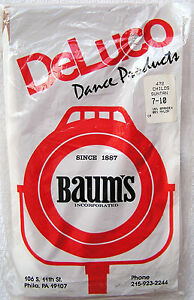 NEW DELUCO BY BAUM'S GIRL'S LYCRA SHIMMER FOOTED SUNTAN DANCE TIGHTS STOCKINGS